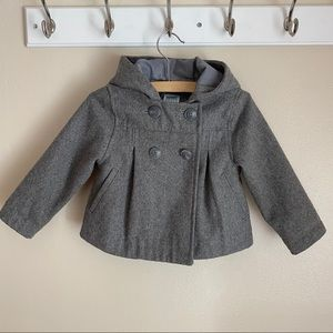 Old Navy hooded peacoat in gray, 2T